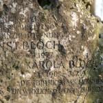 """Inschrift auf Ernst Blochs Grab: """"Denken heißt überschreiten."""""""