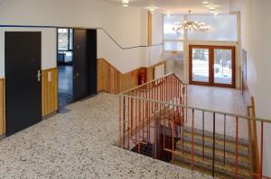 Treppenhaus zwischen Klubraum und Saal