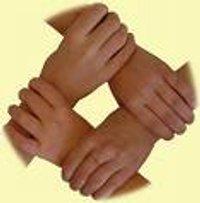 Ineinandergreifende Hände