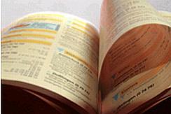 Fotoausschnitt Telefonbuch