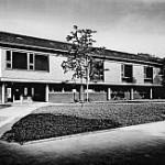 Außenansicht des Clubhaus' aus den 50iger Jahren